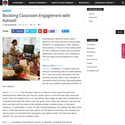 Boosting Classroom Engagement with Kahoot!