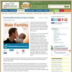 Boosting Male Fertility and Sperm Quality
