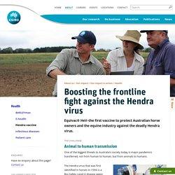 CSIRO16/07/13Boosting the frontline fight against the Hendra virus