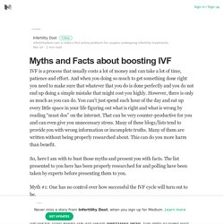 Myths and Facts about boosting IVF – Infertility Dost – Medium