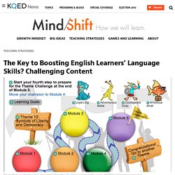 The Key to Boosting English Learners' Language Skills? Challenging Content
