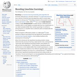 Boosting (machine learning) - Wikipedia