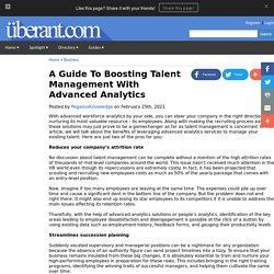 A Guide To Boosting Talent Management With Advanced Analytics