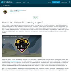 How to find the best Elo boosting support? : lolskinshop