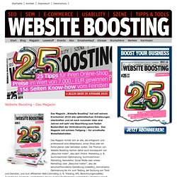 Website Boosting das Magazin für SEO | SEM | USABILITY | E-COMMERCE