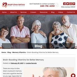 Brain-Boosting Vitamins for Better Memory