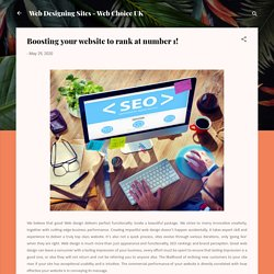 Boosting your website to rank at number 1!