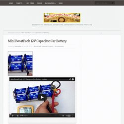 Mini BoostPack 12V Capacitor Car Battery