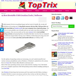 12 Best Bootable USB Creation Tools / Software