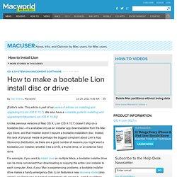 Bootable Lion Drive