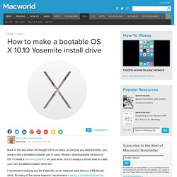 How to make a bootable OS X 10.10 Yosemite install drive