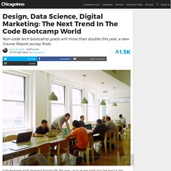 Design Jobs: Code Bootcamps Increase Non-Web Development Courses
