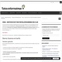 Serva - Booter des Iso et DVD d'installation Windows sur le LAN