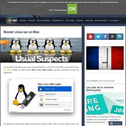 Booter Linux sur un Mac