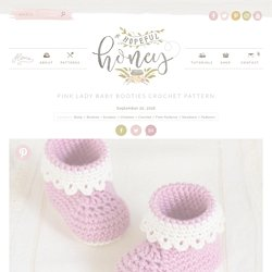 Pink Lady Baby Booties Crochet Pattern - Hopeful Honey