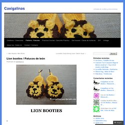 Lion booties / booties lion