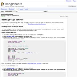 BootingBeagleBoard - beagleboard - Procedure to boot Linux on Beagle Board. - Low-cost, low-power single-board computer