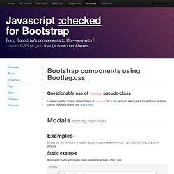 Bootleg.css Twitter Bootstrap