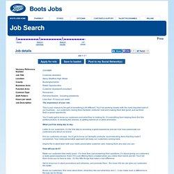 Boots - Job details