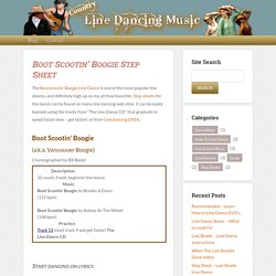 BootScootin Boogie Step Sheet