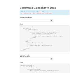 Bootstrap 3 Datepicker