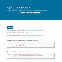 Bootstrap 3 Lightbox