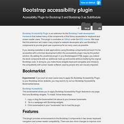 Bootstrap accessibility plugin