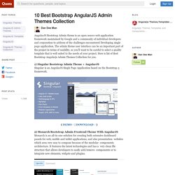 10 Best Bootstrap AngularJS Admin Themes Collec... - Angularjs Themes,Templates and Components - Quora