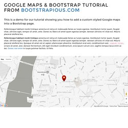 Bootstrap & Google maps Tutorial by Bootstrapious.com