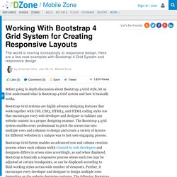 Working With Bootstrap 4 Grid System for Creating Responsive Layouts