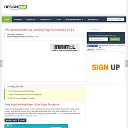95+ Best Bootstrap Landing Page Templates 2014