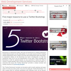 Five major reasons to use a Twitter Bootstrap