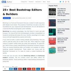 25+ Best Bootstrap Editors & Builders