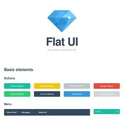Flat UI Kit - HTML/PSD Design Framework
