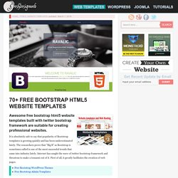 70+ Free Bootstrap HTML5 Website Templates