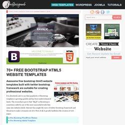 70+ Free Bootstrap HTML5 Website Templates - freshDesignweb