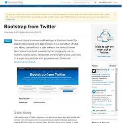 Bootstrap from Twitter