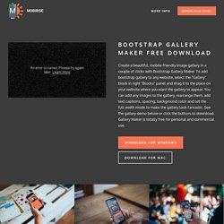 Bootstrap Image Gallery with Responsive Masonry Grid