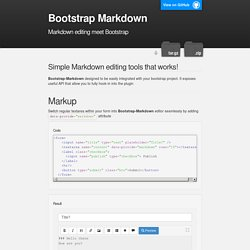 Bootstrap Markdown