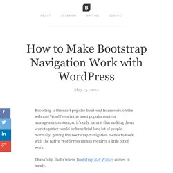 How to Make Bootstrap Navigation Work with WordPress