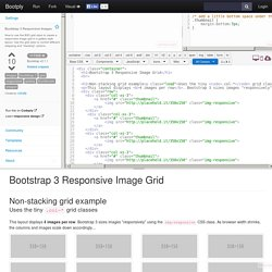 Bootstrap 3 Responsive Images example code