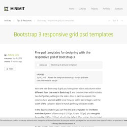 Bootstrap 3 responsive grid psd templates · Minimit