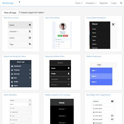 Bootstrap and jQuery sidebar Code Examples