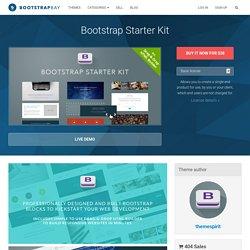 Bootstrap Starter Kit - HTML Bootstrap Template