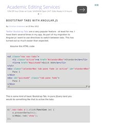 Bootstrap Tabs with Angular.js