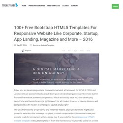 100+ Free Bootstrap HTML5 Templates For Responsive Sites