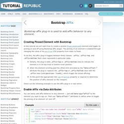 Working with Twitter Bootstrap 3 Affix Plug-in : Tutorial Republic