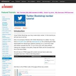 Twitter Bootstrap navbar tutorial