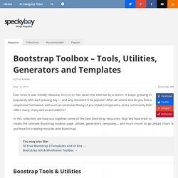 Bootstrap Toolbox - Tools, Utilities, Generators and Templates