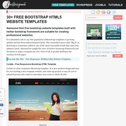 20+ Best Free Bootstrap Website Templates